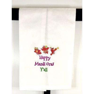 Peking Handicraft Happy Mardi Gras Y'all Tea Towel