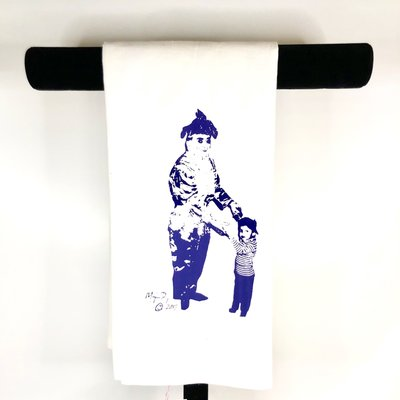 Monique Perry Monique Perry Dancing with Daddy Tea Towel