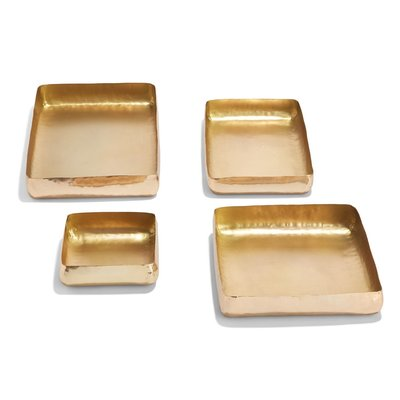 Tozai Square Gold Hand-Crafted Tray
