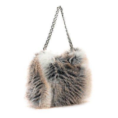 Fabulous Furs Fur Hobo Handbag Cross Fox