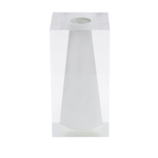 JR Williams Block Bud Vase, Hamptons White