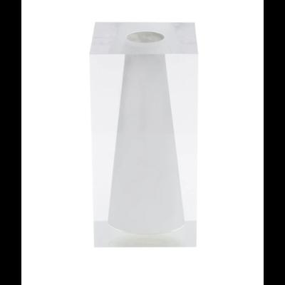 JR Williams Block Bud Vase, Hamptons White