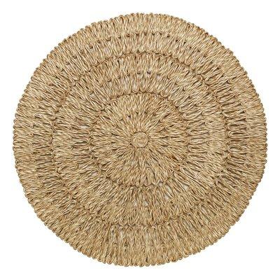 Juliska Round Placemat Straw Loop Natural 16''W