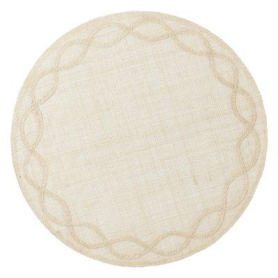 Juliska Round Placemat Tuileries Garden Natural