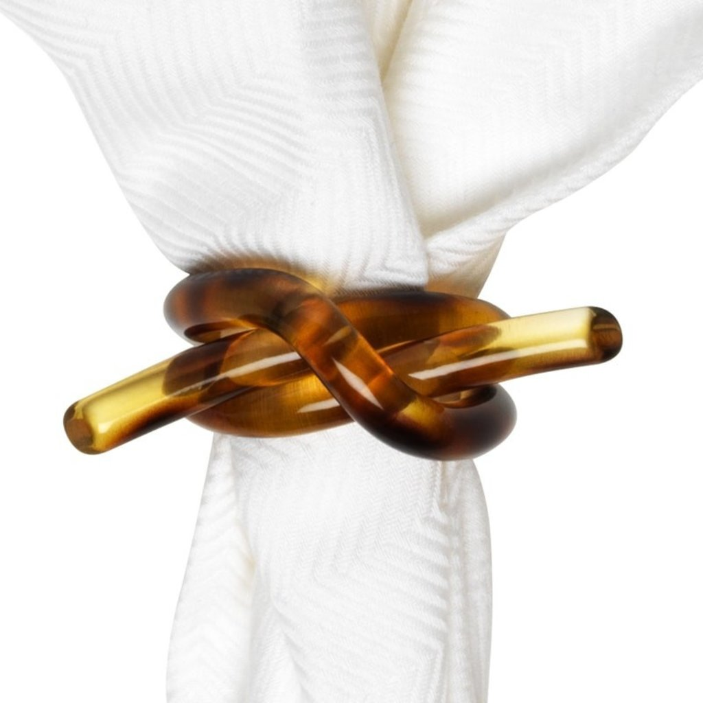 Juliska Napkin Ring Knotted Tortoise 2''L