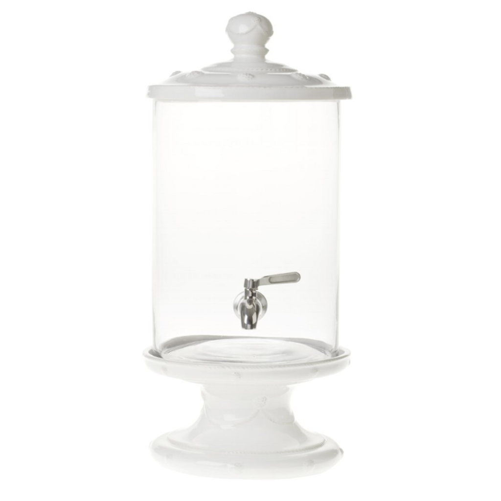 Juliska Beverage Dispenser Set B&T White 23.5''H