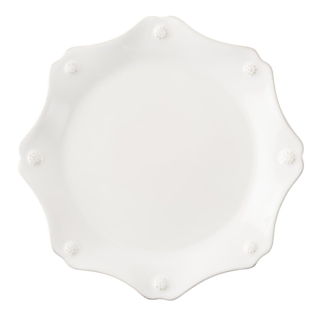 Juliska B&T Whitewash Scalloped Salad Plate Display