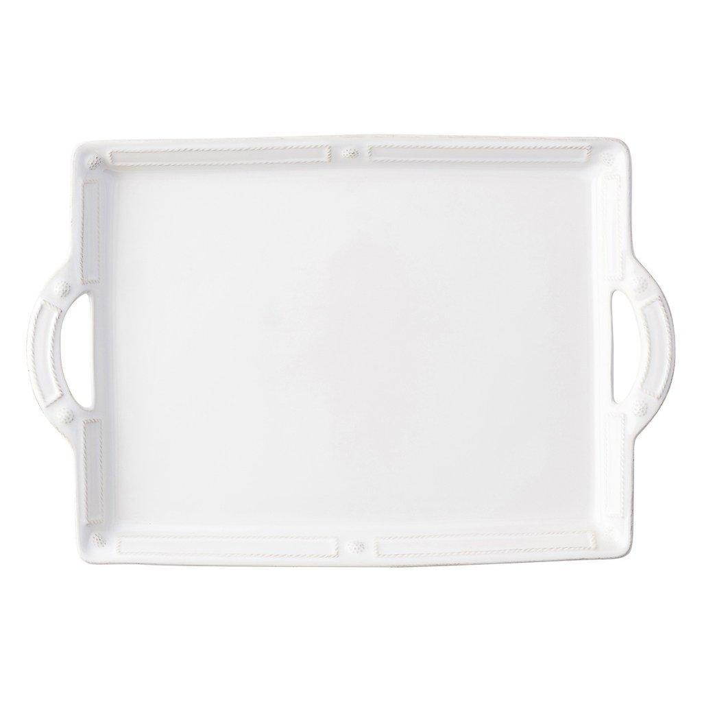 Juliska Handled Tray/Platter B&T French Panel White 19''