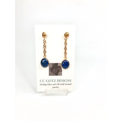 CC Gotz CC Gotz GOLD VERMEIL AND LAPIS E567