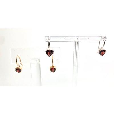 CC Gotz CC Gotz Garnet Heart Earrings