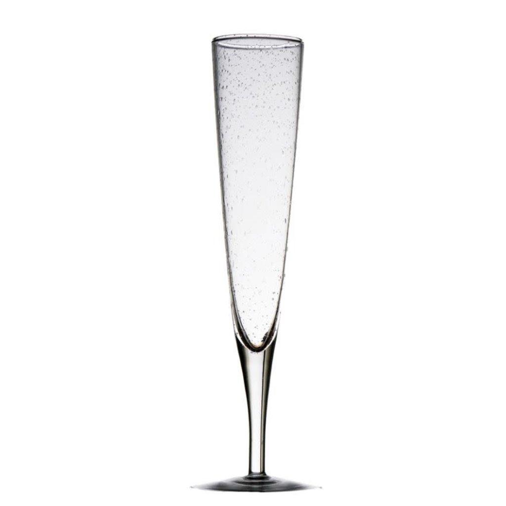 Abigails Bubble Glass Champagne Flute