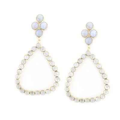 Addison Weeks Otto Earrings Sm- Blue Lace + Moonstone