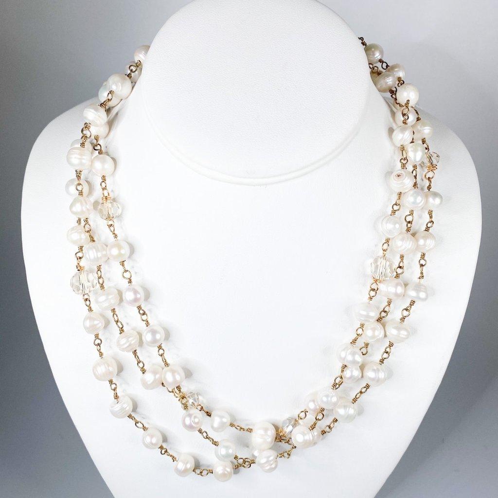Ali and Bird Ali & Bird Pearl chain, Champagne Crystal