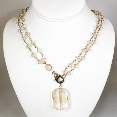 Ali and Bird 814gch champagne crystal chain, quartz