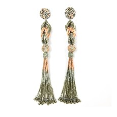Allie Beads Allie Beads Jackie Pink Tassel Earrings