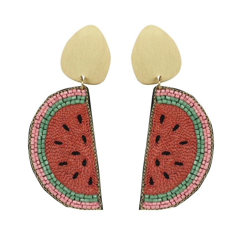 Allie Beads Watermelon Earrings