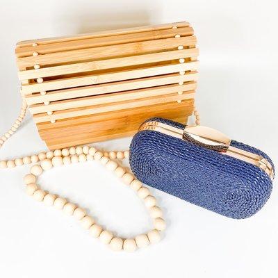 Amishi Wood Slotted Handbag