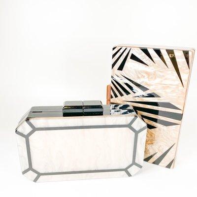 Amishi Black/Cream Art Deco Handbag