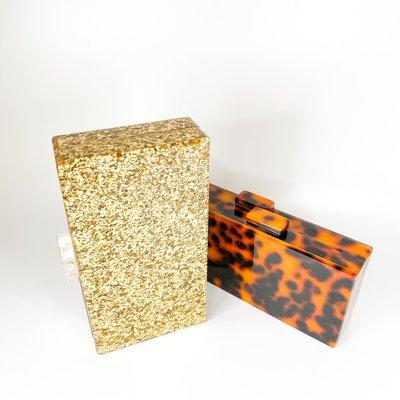 Amishi Gold Sparkle Handbag
