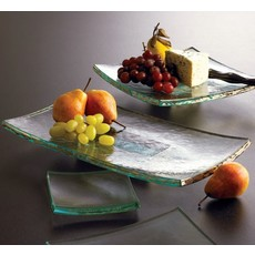Annie Glass Annie Glass 15 1/2 x 8'' PED SLAB - GOLD