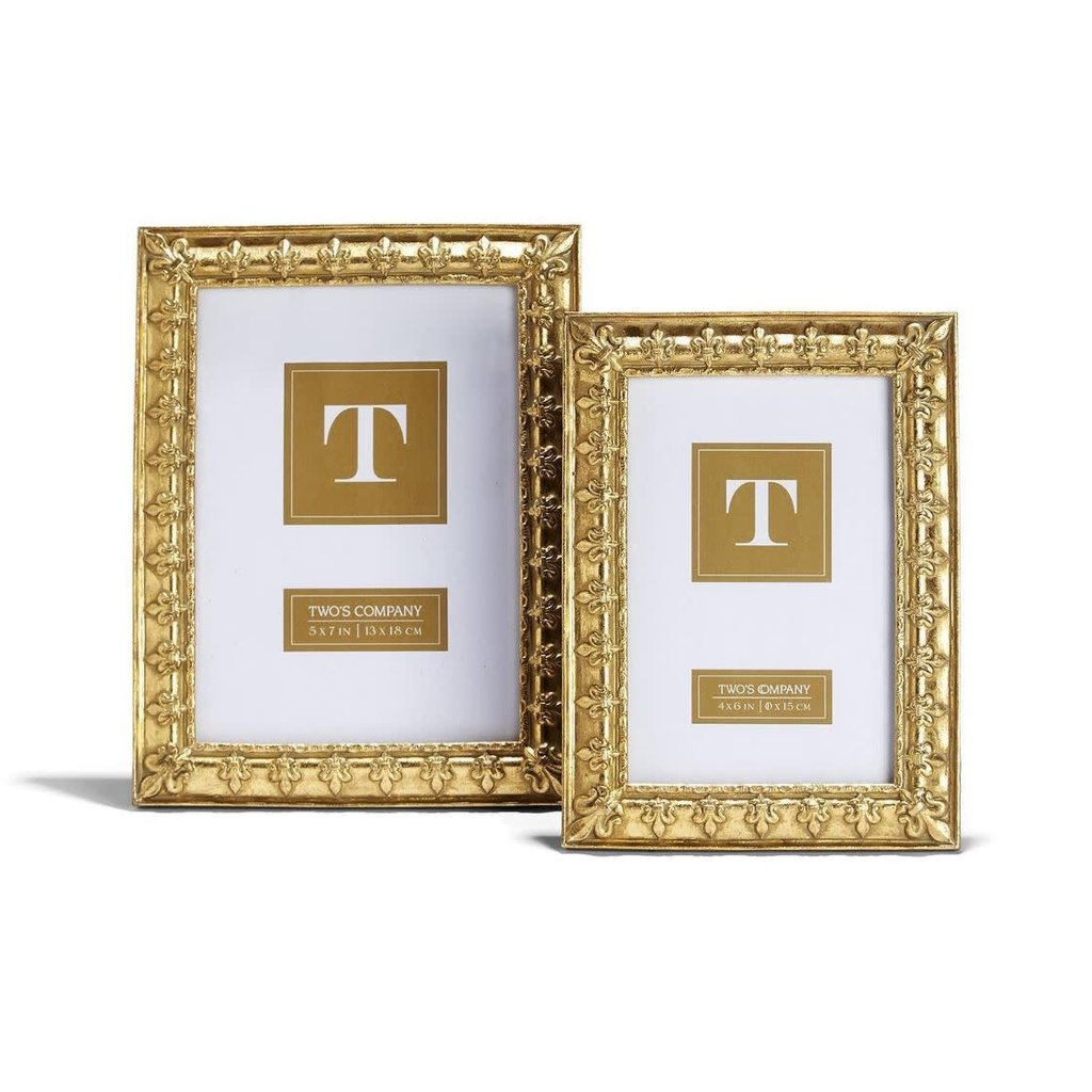 Two's Company Fleur de Lis Frame 5x7