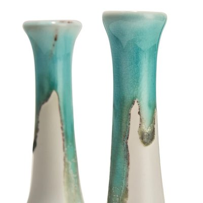 Two's Company Turquoise Drip Vase