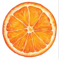Hester and Cook Hester and Cook Die-Cut Orange Slice Placemat