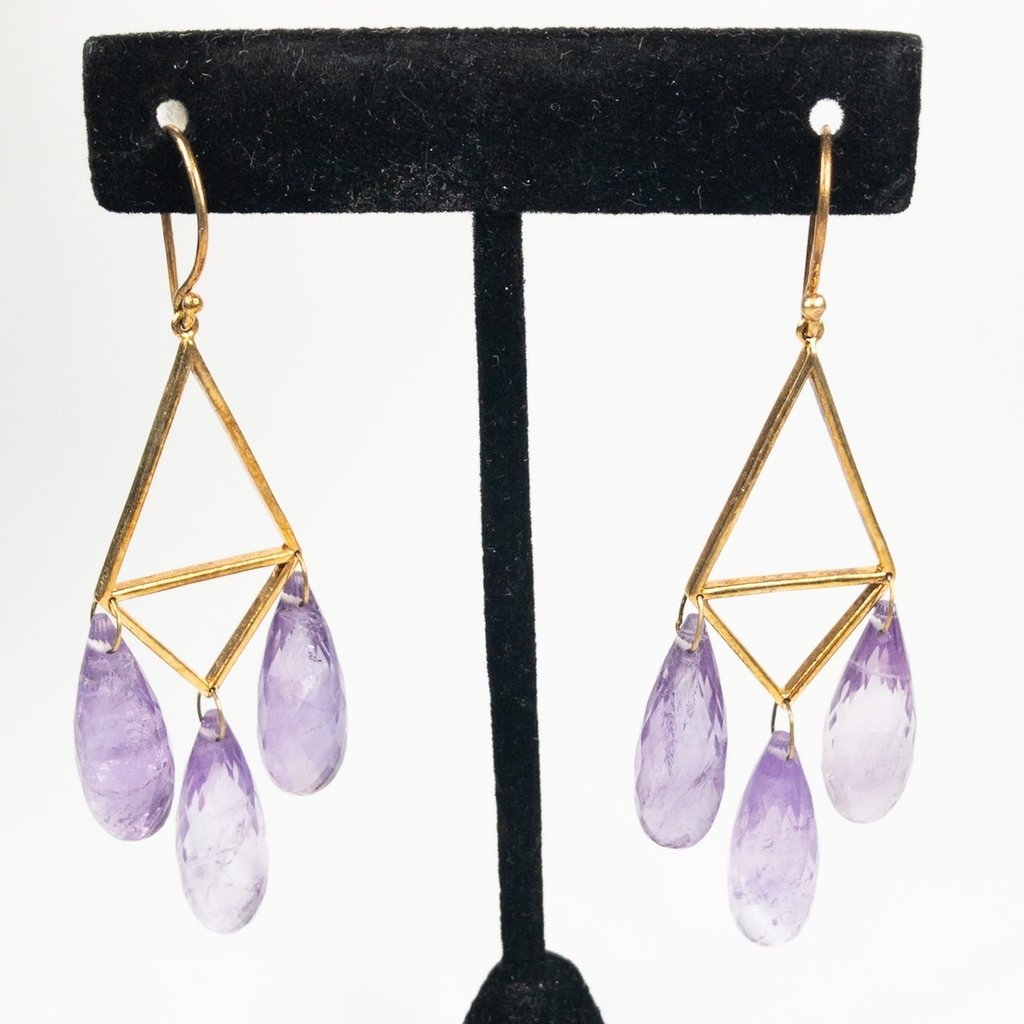Benazir Collection Tracy Earrings Amethyst