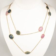 Benazir Collection Gemma Necklace Multi Sapphire