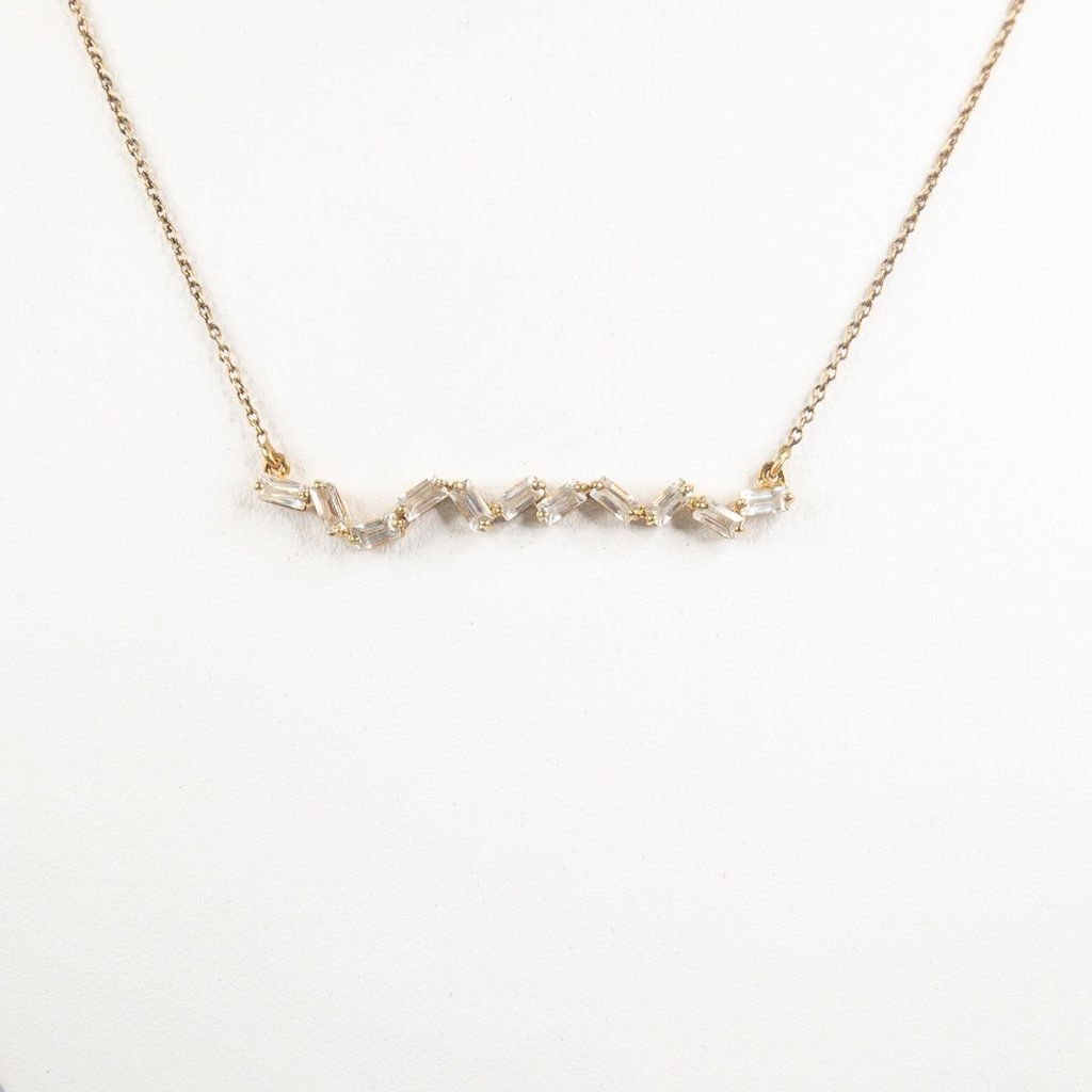 Benazir Collection Klara Necklace White Topaz