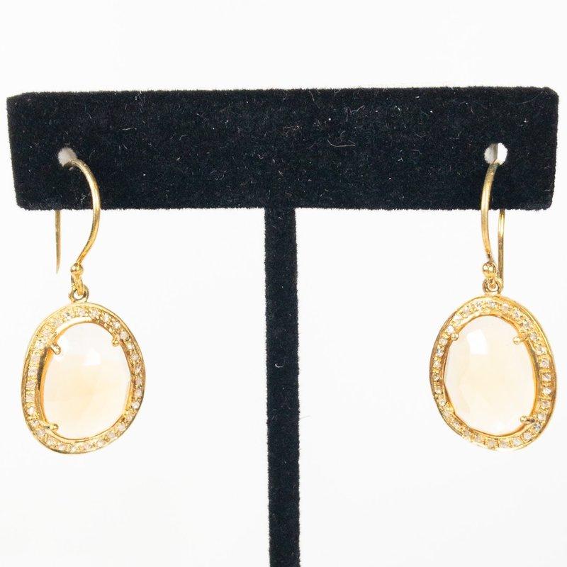 Benazir Collection Renee Earring Golde Rutile + Diamonds