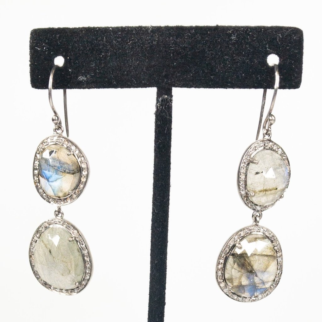 Benazir Collection Celeste Earrings Labradorite