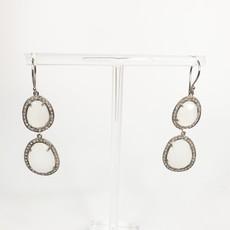 Benazir Collection Celeste Earrings Moonstone