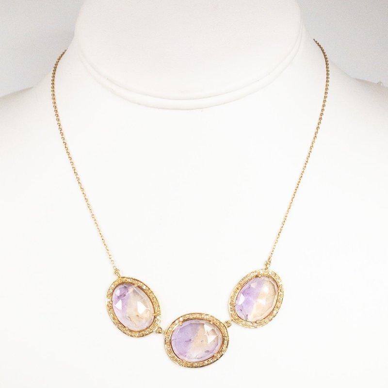 Benazir Collection Darcy Necklace Ametrine