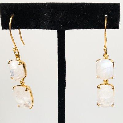 Benazir Collection Gemma Earrings Moonstone