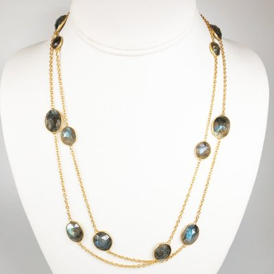 Benazir Collection Gemma Long Necklace (Lab.)
