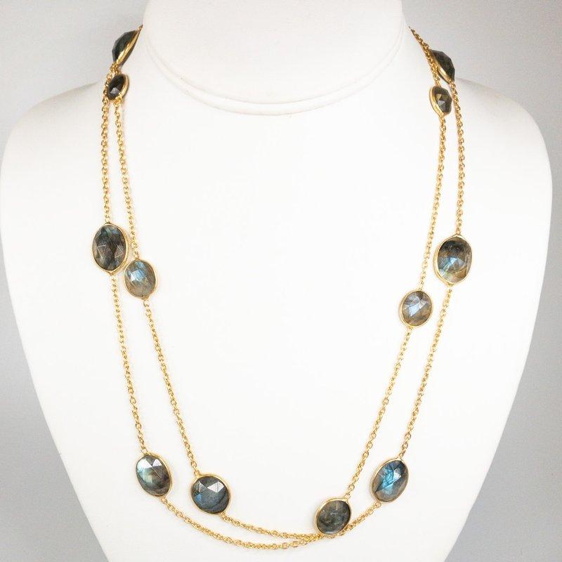 Benazir Collection Gemma Long Necklace (Lab.)