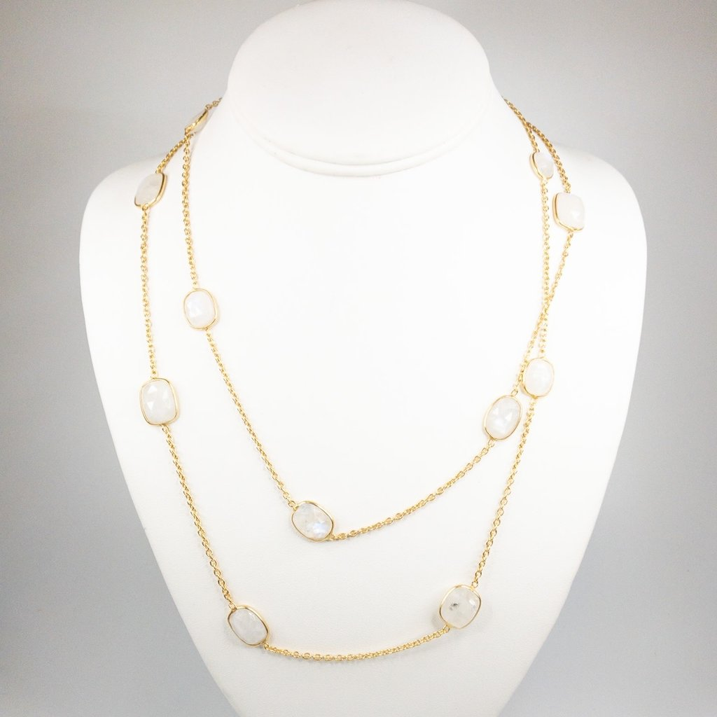 Benazir Collection Gemma Long Necklace (MStone)