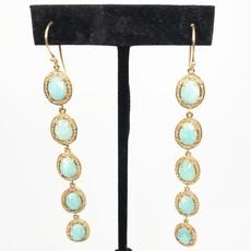 Benazir Collection Giselle Earrings Amazonite
