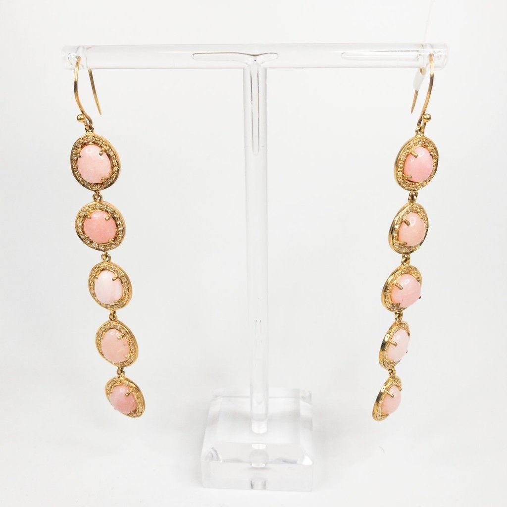 Benazir Collection Giselle Earrings Pink Opal