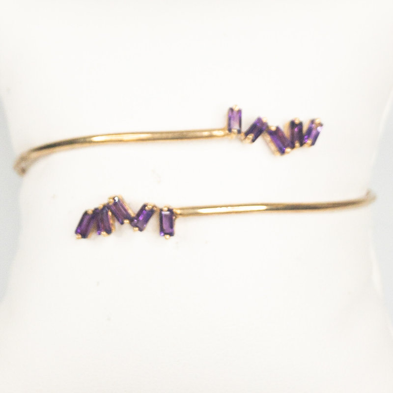 Benazir Collection Klara Bangle Amethyst
