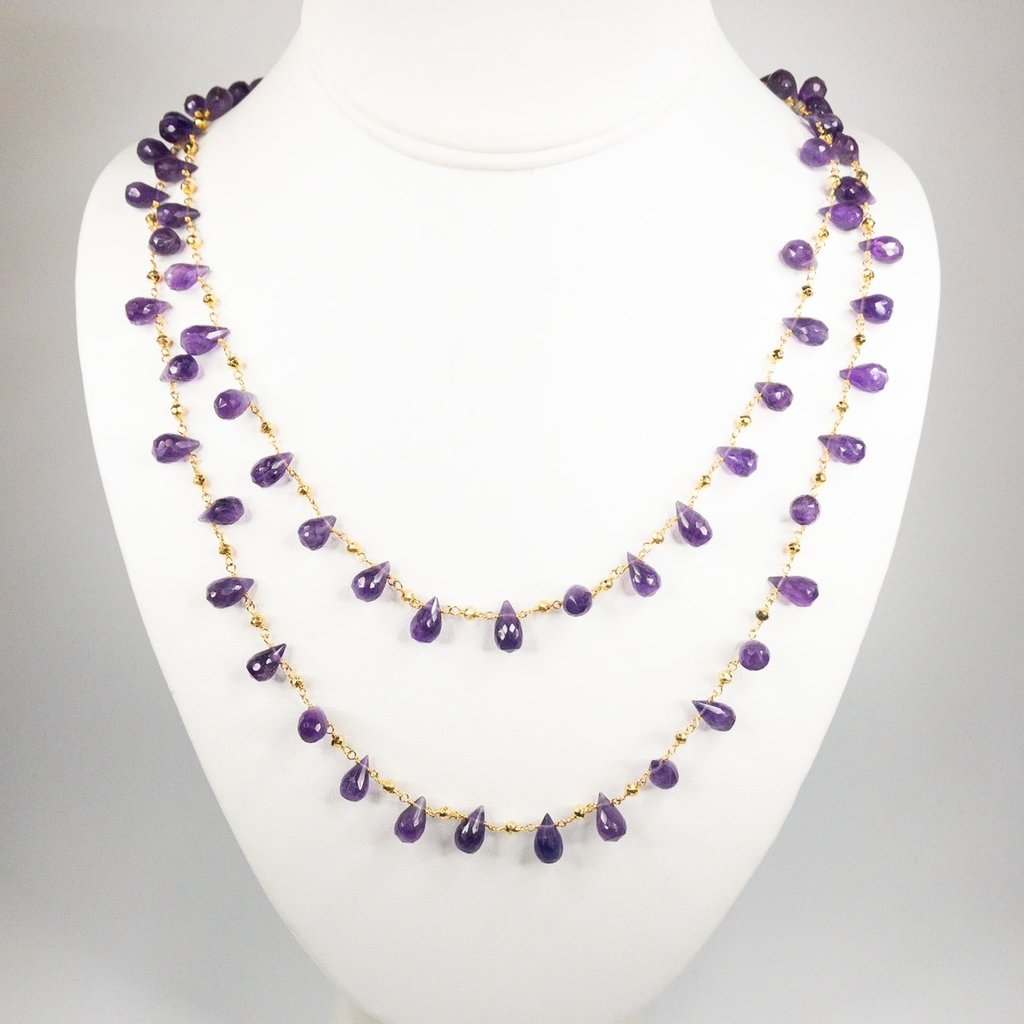 Benazir Collection Labrez Necklace Amethyst