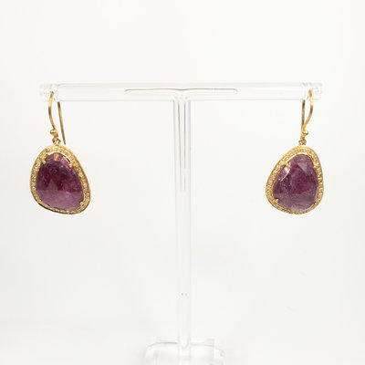 Benazir Collection Margot Earrings Ruby