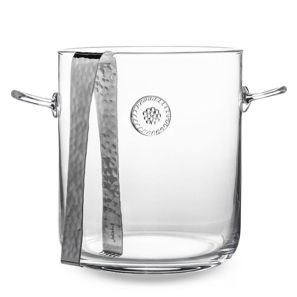 Juliska Ice Bucket w/ Tongs B&T 3.5 QT