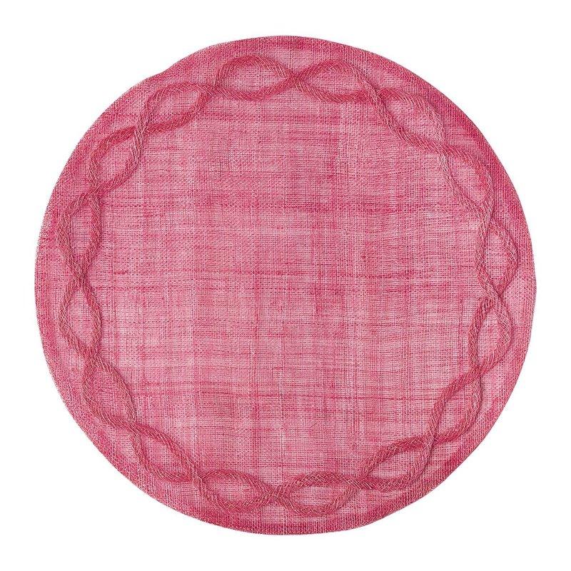 Juliska Round Placemat Tuileries Garden Pink