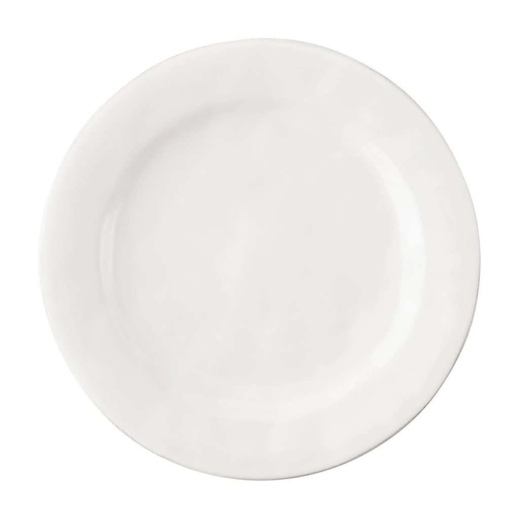 Juliska Puro White Dessert/Salad Plate Display