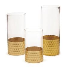 Two's Company Gold Three Tube Vase
