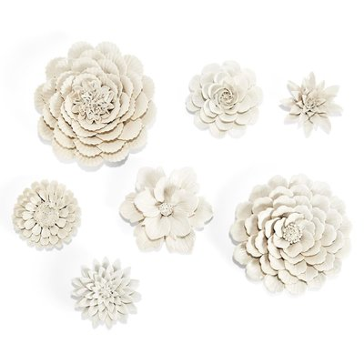 Two's Company Flower Wall Scupture Xlarge Scallop
