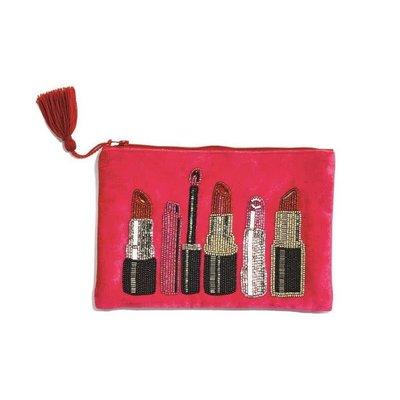 Two's Company Embroidered Lipstick Pouch 1