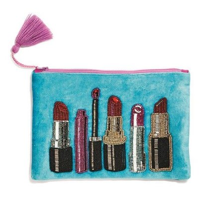 Two's Company Embroidered Lipstick Pouch 3